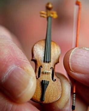 体积最小的小提琴售价上千英镑 玩具店出售