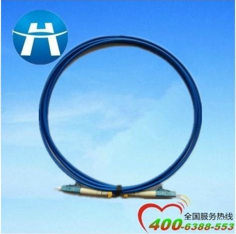 光线跳线提供商恒拓致远LC单模双芯铠装光纤跳线