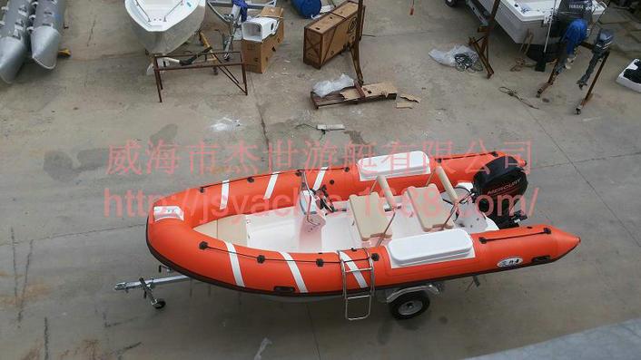 4-6人RIB玻璃钢钓鱼专用橡皮艇