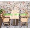 餐厅桌椅两人位实木桌面铁脚正方