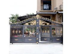东莞华雅别墅大门,铸铝花饰,高端