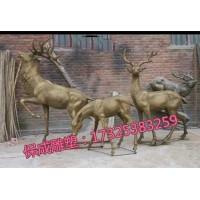 铜雕母子鹿招财鹿广场大型铸铜雕塑摆件庭院梅花鹿摆件