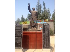 毛主席毛泽东竹筒雕像定制校园学校