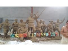 红军八路军抗战人物铸铜模型铜雕摆