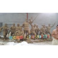 红军八路军抗战人物铸铜模型铜雕