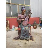 民俗文化雕塑铸铜雕塑复古商业街小吃街步行街人物雕塑