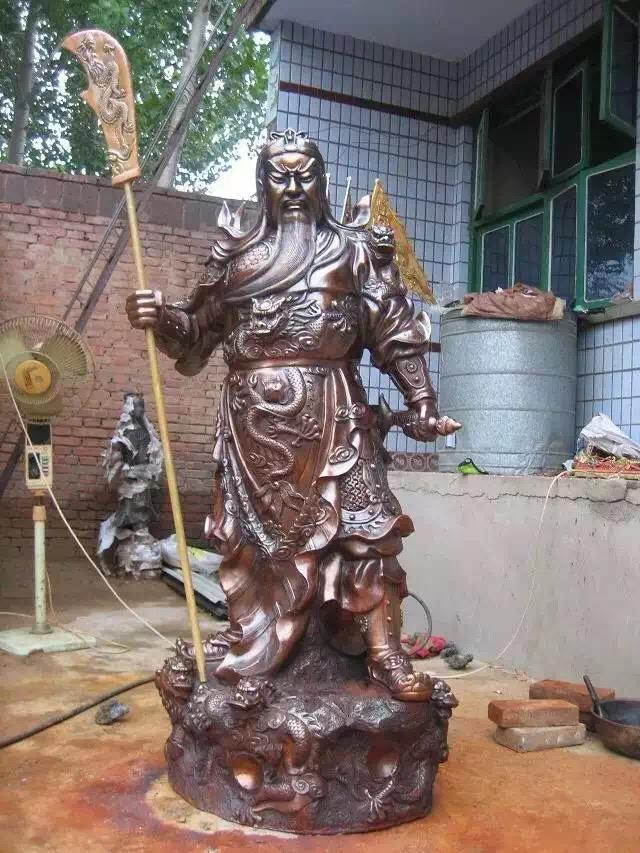 大型开业乔迁贺礼摆件伽蓝韦陀菩萨护法雕塑铸铜雕塑