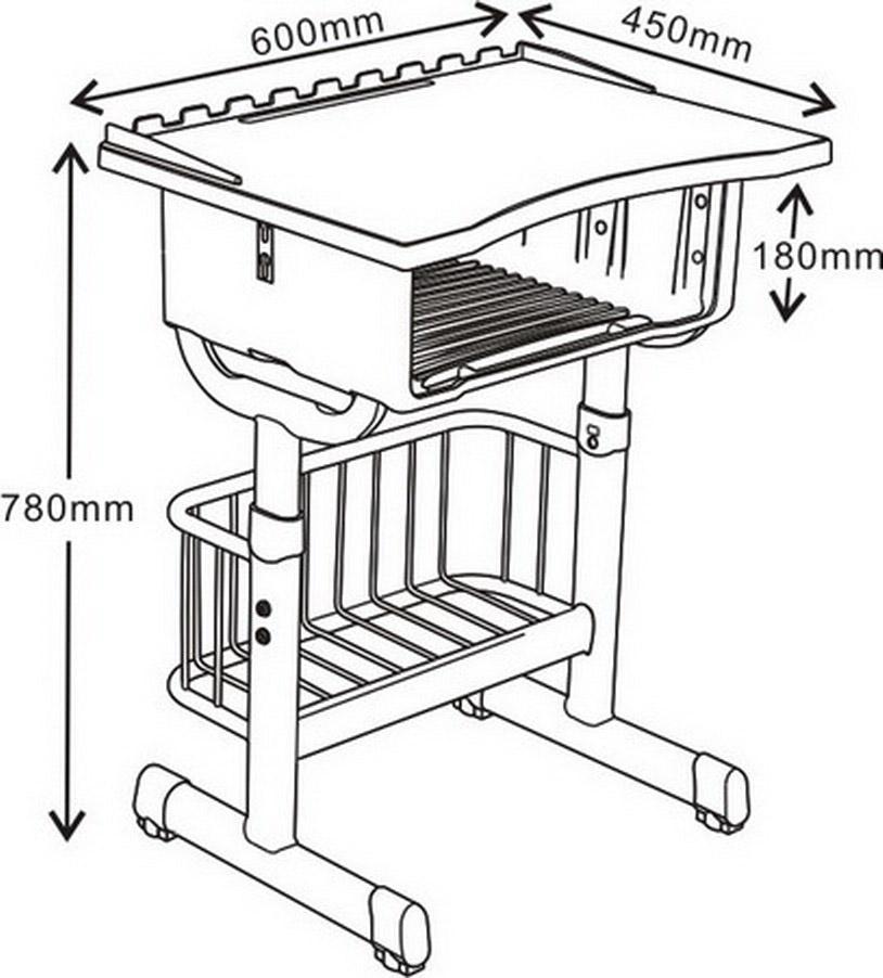 向可 不锈钢桌椅  课桌椅