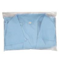 现货批发磨砂服装包装袋两面磨砂CPE男女服装自封拉链包装袋子