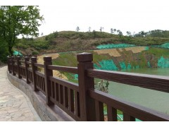 仿木栏杆-木塑材料-仿石栏杆-塑木材