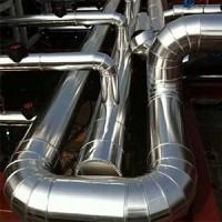 玻璃棉管彩钢板管道保温工程 白